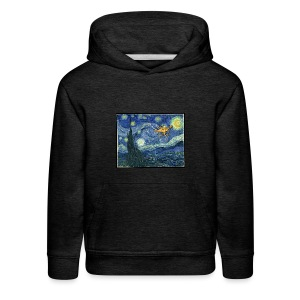 Starry Night Drone - Kids' Premium Hoodie