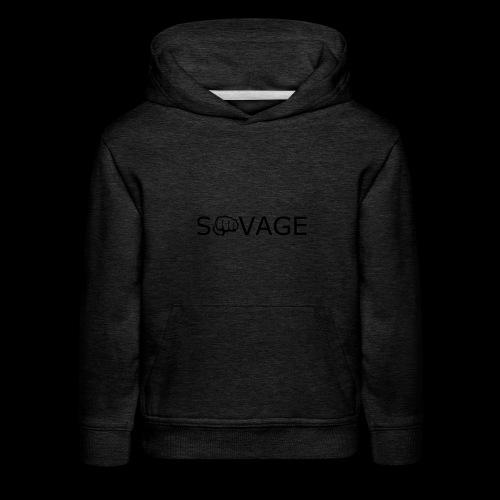 savage black design - Kids' Premium Hoodie