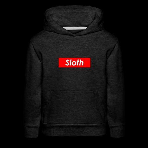 Sloth Box Logo - Kids' Premium Hoodie