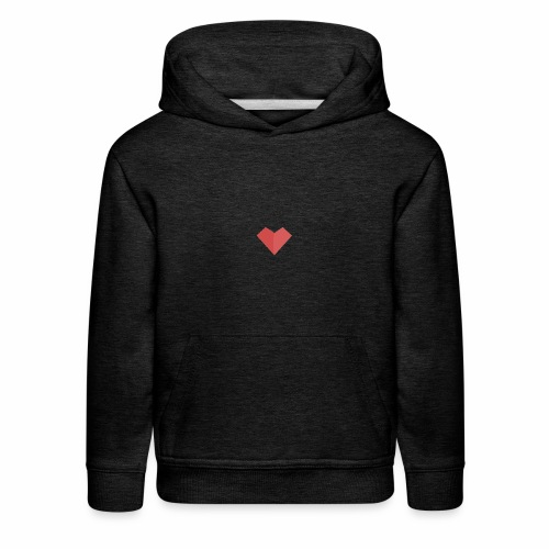 a loving heart on your clothing - Kids' Premium Hoodie