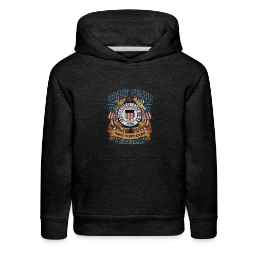US COAST GUARD PROUD TO HAVE SERVED VETERAN - Kids' Premium Hoodie