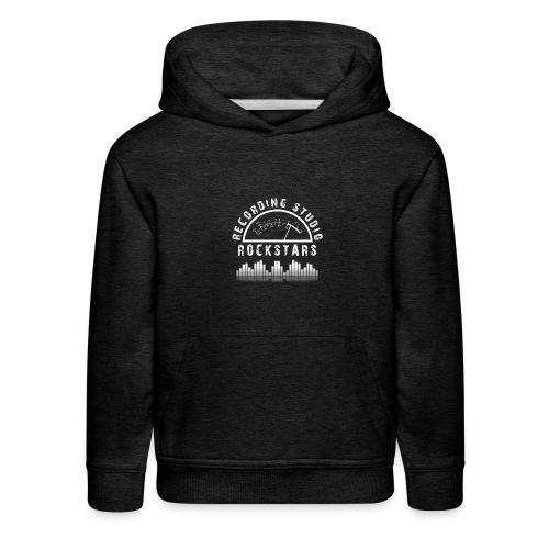 Recording Studio Rockstars - White Logo - Kids' Premium Hoodie