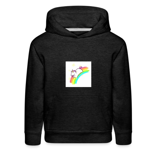 tumblr static sparkly unicorn no tag - Kids' Premium Hoodie