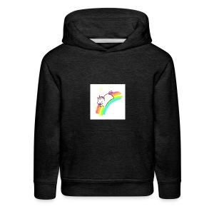 tumblr static sparkly unicorn no tag - Kids' Premium Hoodie