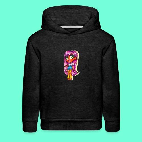 Pink Hair Girl ~ - Kids' Premium Hoodie