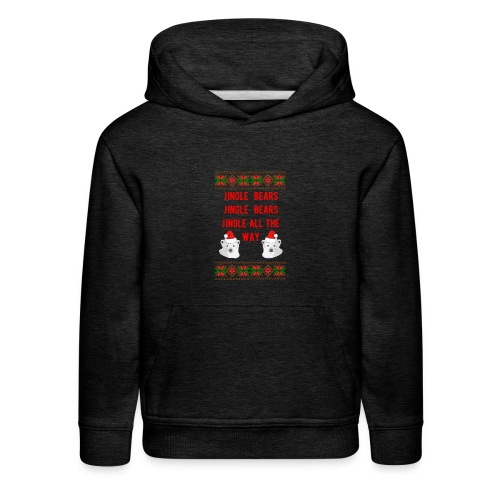 Jingle Bear (Red Text) - Kids' Premium Hoodie