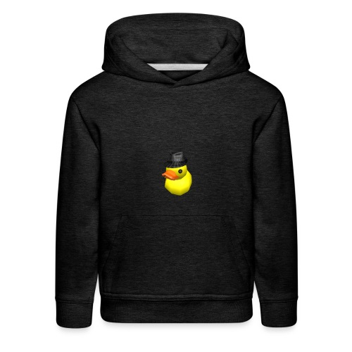 limited time duck with fedora - Kids' Premium Hoodie