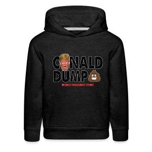 Conald Dump Worst President Ever - Kids' Premium Hoodie