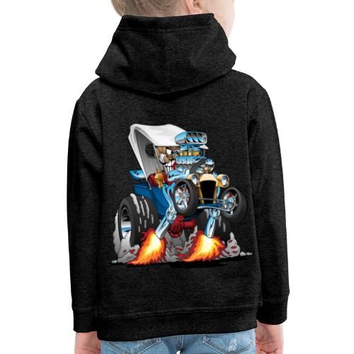 Custom T-bucket Roadster Hotrod Cartoon - Kids' Premium Hoodie