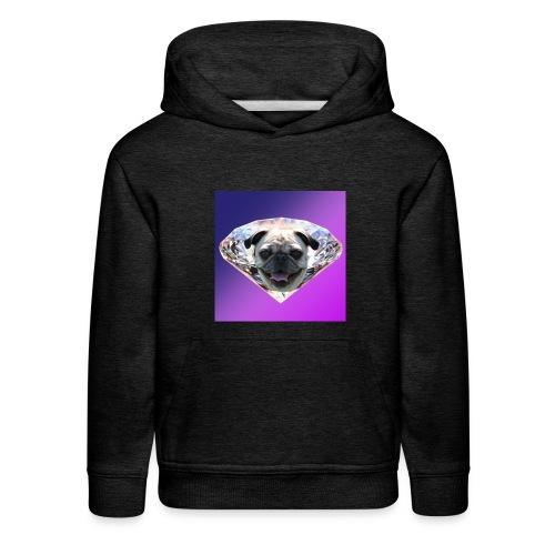 Diamond Pug - Kids' Premium Hoodie
