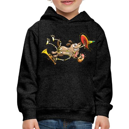 Mischievous Dog Stealing Mexican Skeleton - Kids' Premium Hoodie