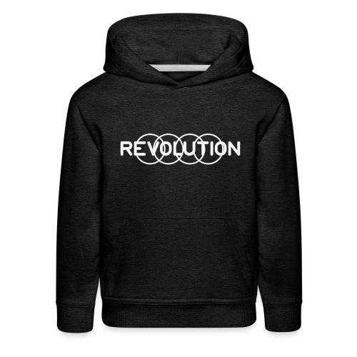 White Revolution Logo - Kids' Premium Hoodie