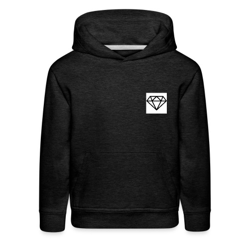 diamond outline 318 36534 - Kids' Premium Hoodie
