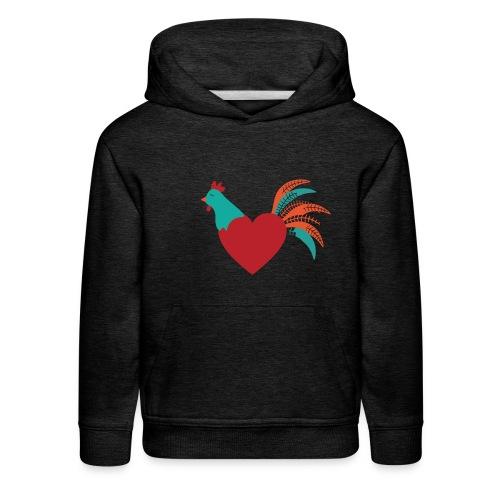 Chicken Heart - Kids' Premium Hoodie