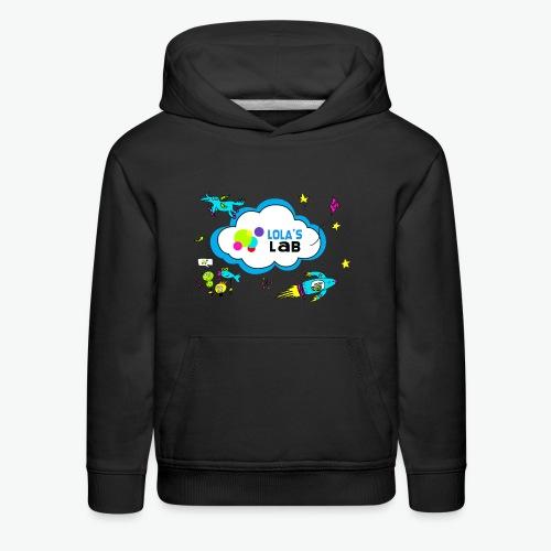 Lola's Lab illustrated logo tee - Kids' Premium Hoodie