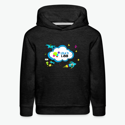 Lola's Lab illustrated logo tee - Kids' Premium Hoodie