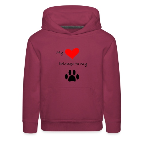 Dog Lovers shirt - My Heart Belongs to my Dog - Kids' Premium Hoodie