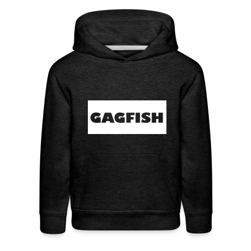 GAGFISH WIGHT LOGO - Kids' Premium Hoodie