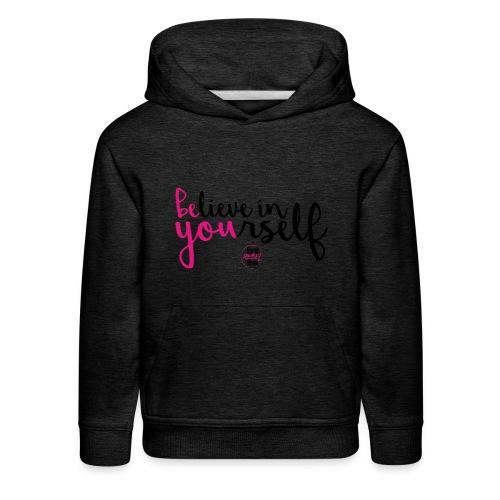 BE YOU shirt design w logo - Kids' Premium Hoodie