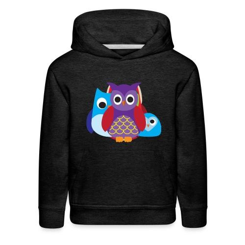 Cute Owls Eyes - Kids' Premium Hoodie