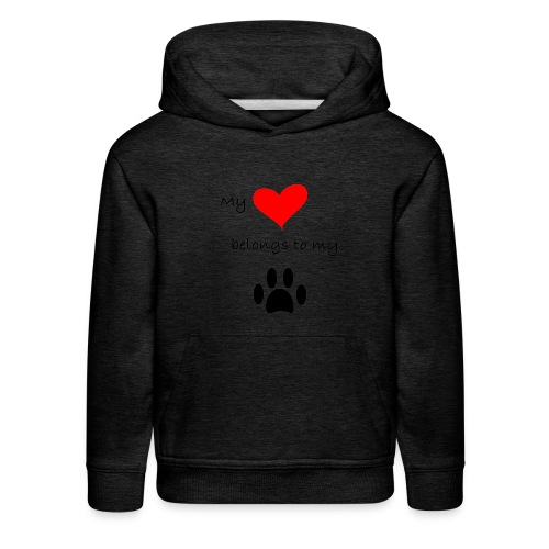 Dog Lovers shirt - My Heart Belongs to my Dog - Kids' Premium Hoodie