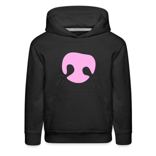 Pink Whimsical Dog Nose - Kids' Premium Hoodie