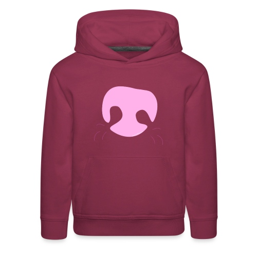 Pink Whimsical Dog Nose - Kids' Premium Hoodie