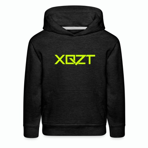 #XQZT Logo Lime Light - Kids' Premium Hoodie