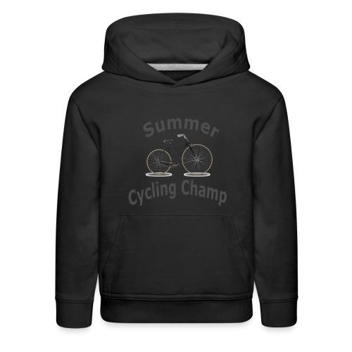 Summer Cycling Champ - Kids' Premium Hoodie