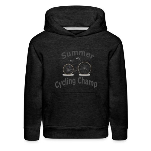Summer Cycling Champ - Kids' Premium Hoodie
