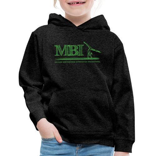 Green MBI sketch logo - Kids' Premium Hoodie