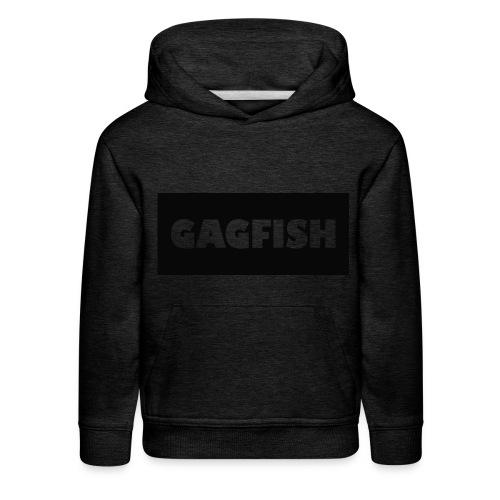 GAGFISH BLACK LOGO - Kids' Premium Hoodie
