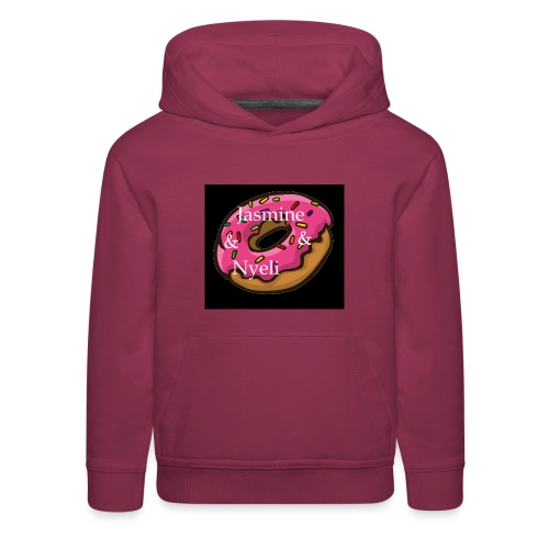 Black Donut W/ Our Channel Name - Kids' Premium Hoodie