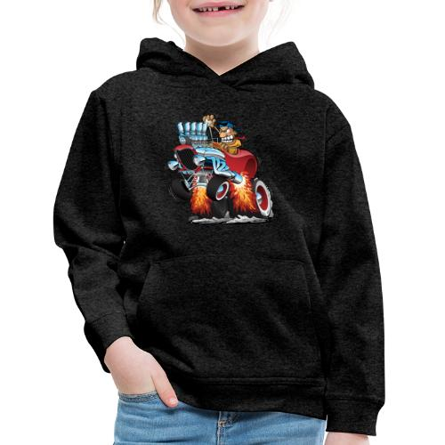 Highboy Hot Rod Race Car Cartoon - Kids' Premium Hoodie