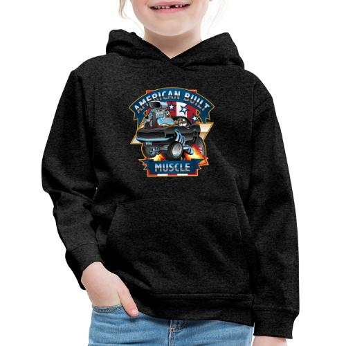 American Built Muscle - Classic Muscle Car Cartoon - Kids' Premium Hoodie