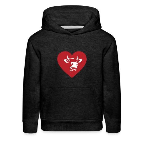 Cow Heart - Kids' Premium Hoodie