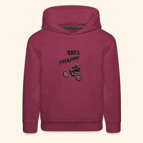 100% BRAPPP (Black and White) - Kids' Premium Hoodie