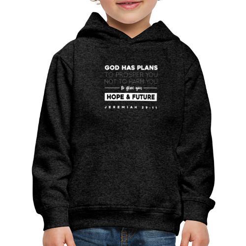 Jeremiah 29:11 shirt: Hope and future - Kids' Premium Hoodie