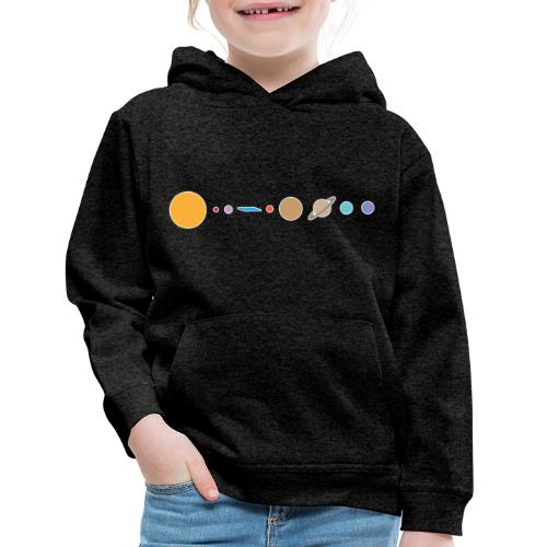 Flat earth conspiracy theory humor illustration - Kids' Premium Hoodie