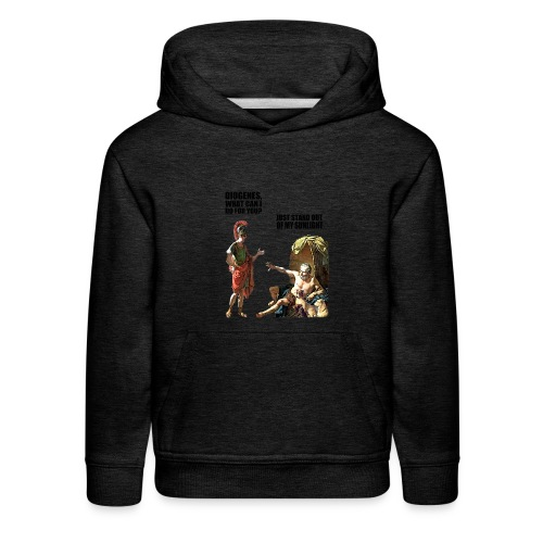 hlalexander and diogene2 black - Kids' Premium Hoodie