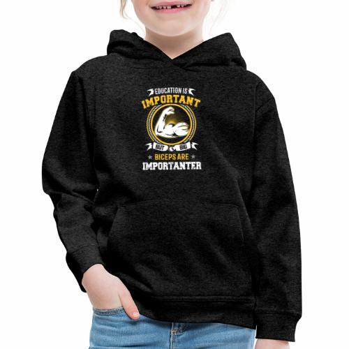Workout is Important - Kids' Premium Hoodie