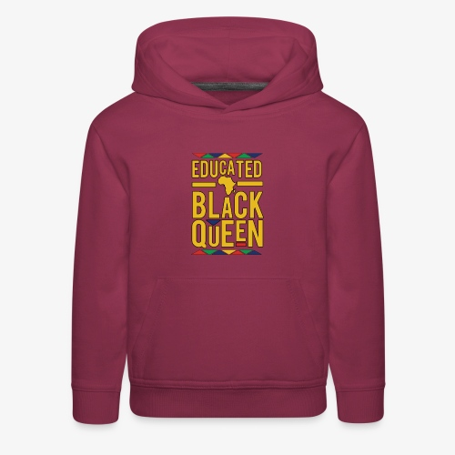 Dashiki Educated BLACK Queen - Kids' Premium Hoodie