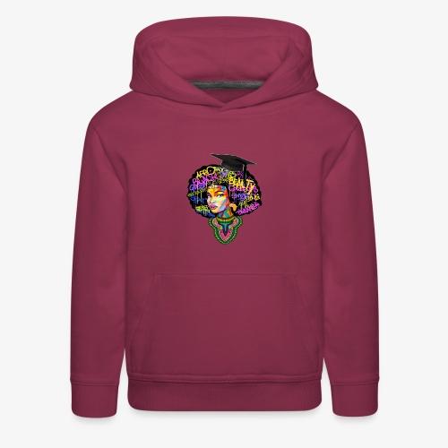 Graduation Melanin Queen Shirt Gift - Kids' Premium Hoodie