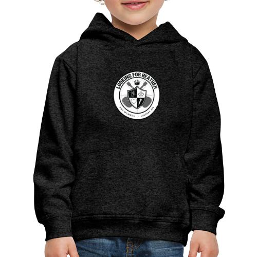 Looking For Heather - Crest Logo - Kids' Premium Hoodie