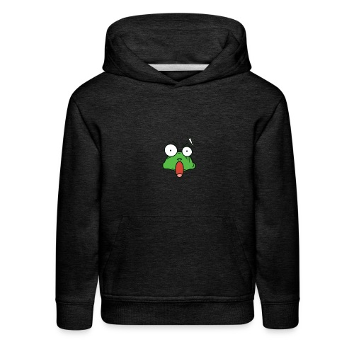 Frog with amazed face expression - Kids' Premium Hoodie