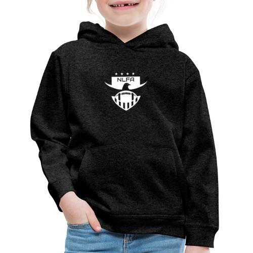 NLFA Logo white - Kids' Premium Hoodie