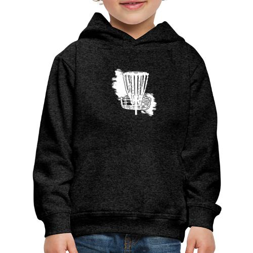 Disc Golf Basket White Print - Kids' Premium Hoodie