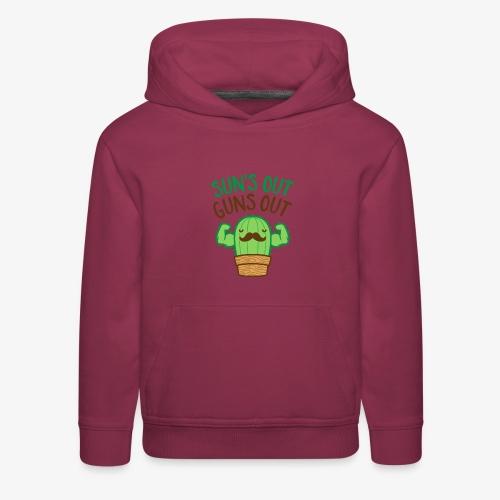 Sun's Out Guns Out Macho Cactus - Kids' Premium Hoodie