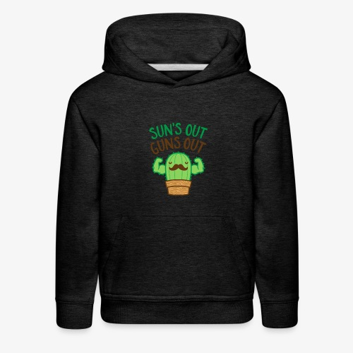 Sun's Out Guns Out Macho Cactus - Kids' Premium Hoodie