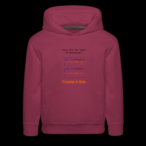 Code Styling Preference Shirt - Kids' Premium Hoodie
